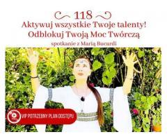 Wykład Marii Bucardi na temat aktywacji Twoich wszystkich Talentów Online